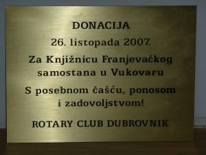 Darovane knjige Rotary club Dubrovnik
