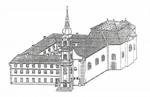 Franjevački kompleks u crtežu