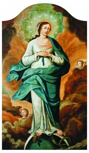 Bezgrješna Bogorocica (Immaculata), nepoznati autor, tempera-ulje na platnu, 18. st.