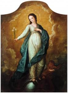 Bezgrješna Bogorodica, nepoznati autor, ulje na platnu, 19. st.