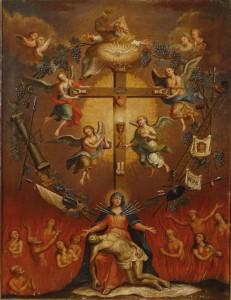 Bogorodica sa simbolima muke
