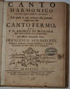 Modona di, Andrea, Harmonijski kantual