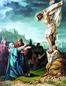 Oplakivanje Krista, J. Zadori, ulje na platnu, kolovoz 1949.