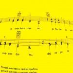 Pjesmarica-note