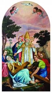Pronalazak sv. Križa, nepoznati autor, ulje na platnu, 19. st.