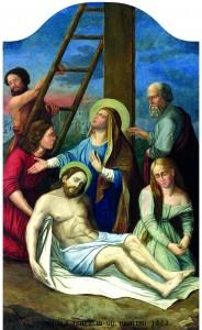 Skidanje s križa, I. F. Meucke, ulje na platnu, 1843