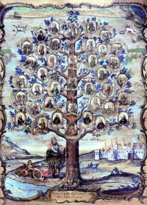 Stablo srijemskih blaženika, slugu Božjih, oslikana grafika, Budimpešta, 1777.