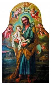 Sv. Josip s malim Isusom, Pavao iz Pečuha, Ulje na platnu, 1756.